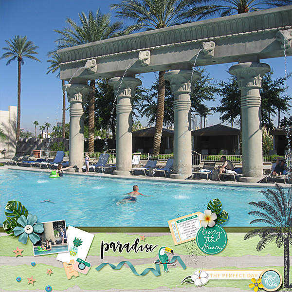 An Egyptian Themed Pool at the Luxor Hotel