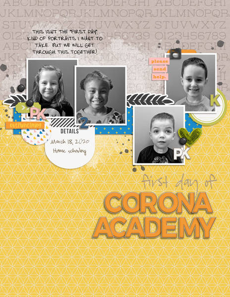 First Day of Corona Academy