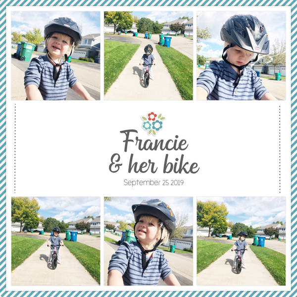 Francie and her Bike
