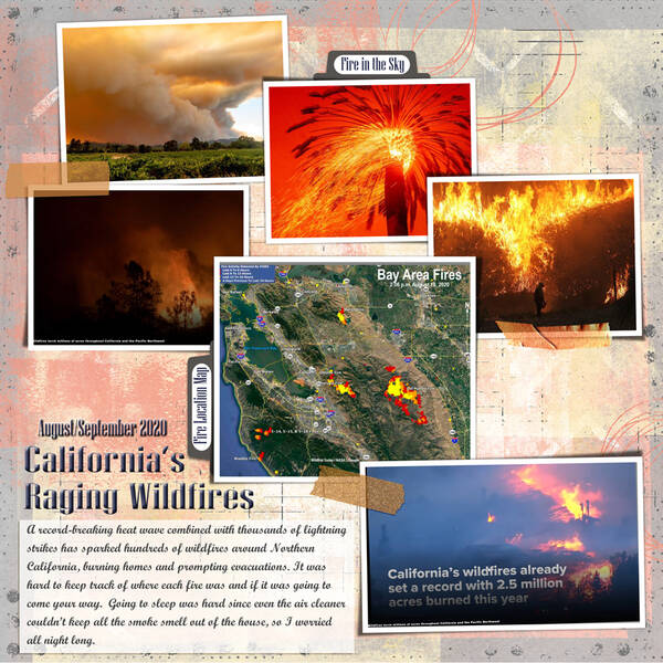 California WildFires 2020 - page one