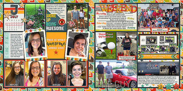 2015 Project Life Week 28 (24x12)