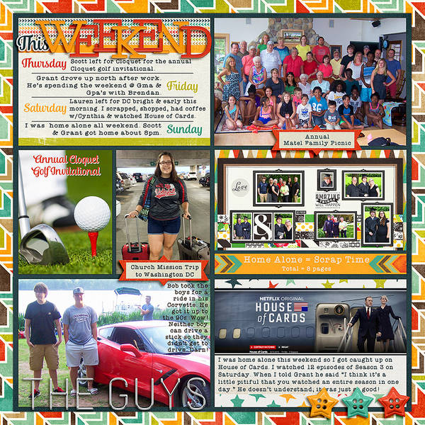 2015 Project Life Week 28 (Right Side)