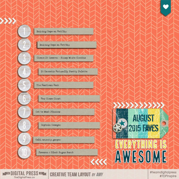 Top 10 - August 2015