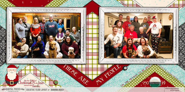 Christmas: These Are My People - 24x12