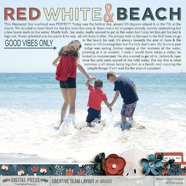 Red White and Beach