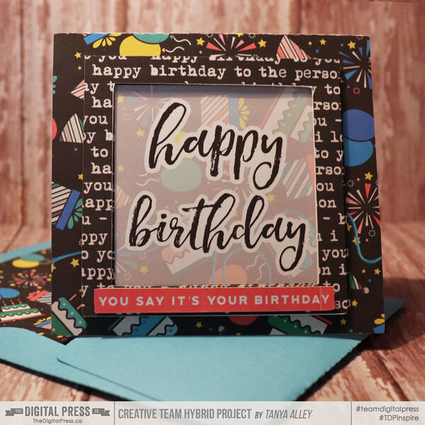 Happy Birthday Card with Matching envie