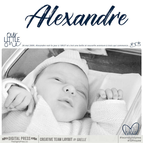 Alexandre our little one