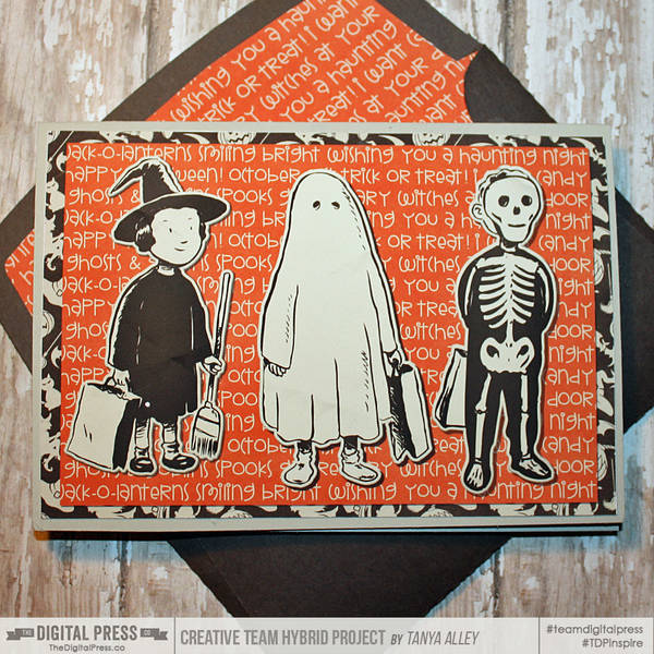 Halloween card with matching envie