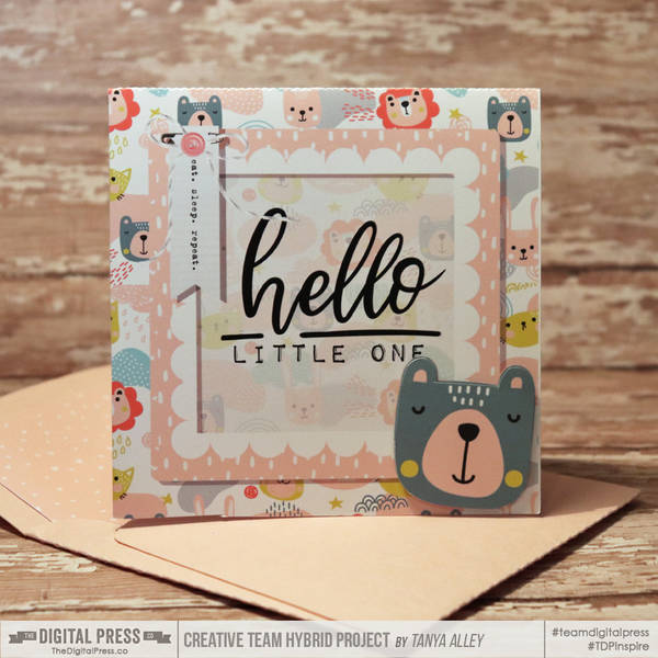 Baby Shower card with matching envie