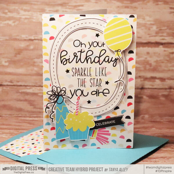 Birthday card with matching envi