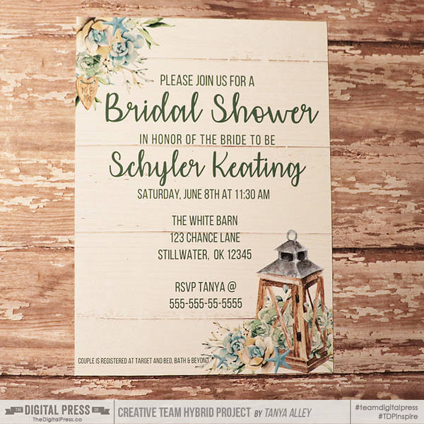 A Shore Thing bridal shower invite