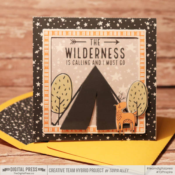 Campground card with matching envie