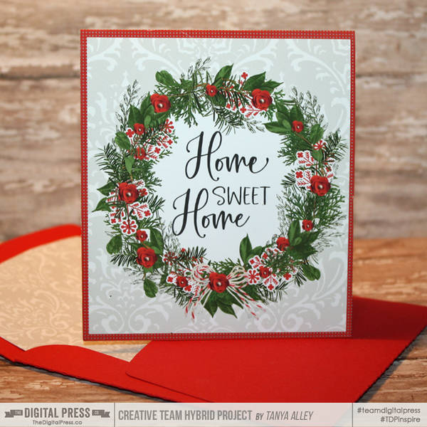 Home Sweet Home Card with matching envie