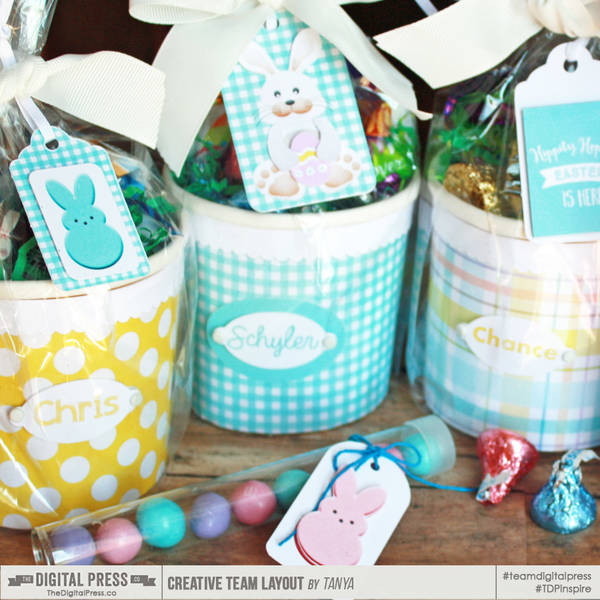 Mini Easter Baskets with tags