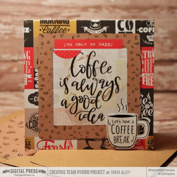 Coffee card with matching envie