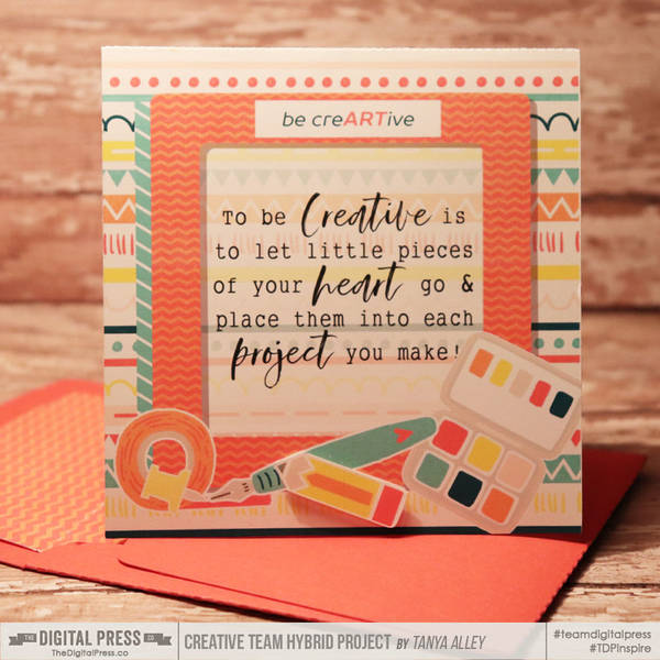 Creativity card with matching envie
