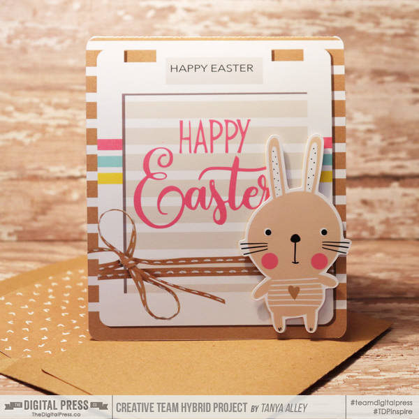 Happy Easter Card with matching envie