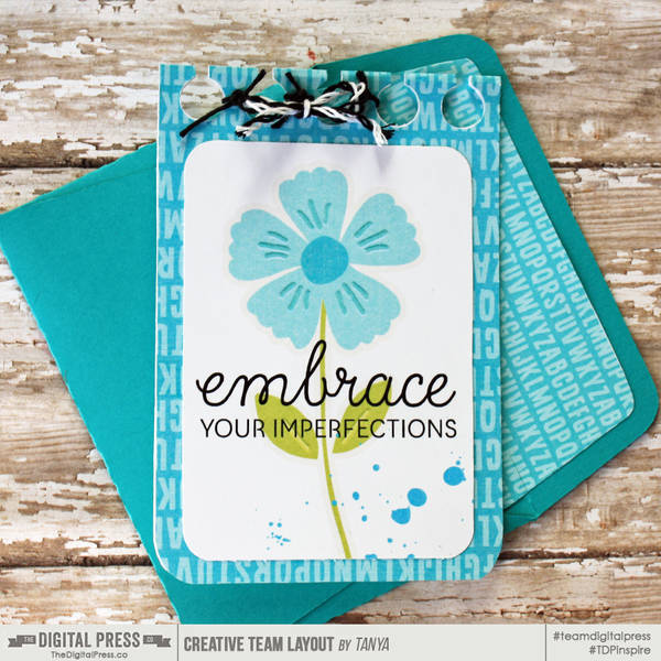 Embrace card with matching envie