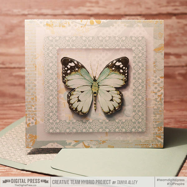 Thinking of You card with matching envie