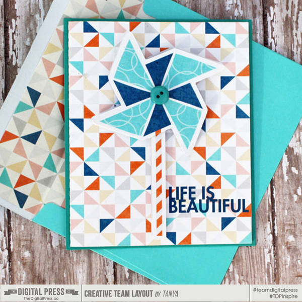 Life is Beautiful card with matching envelope