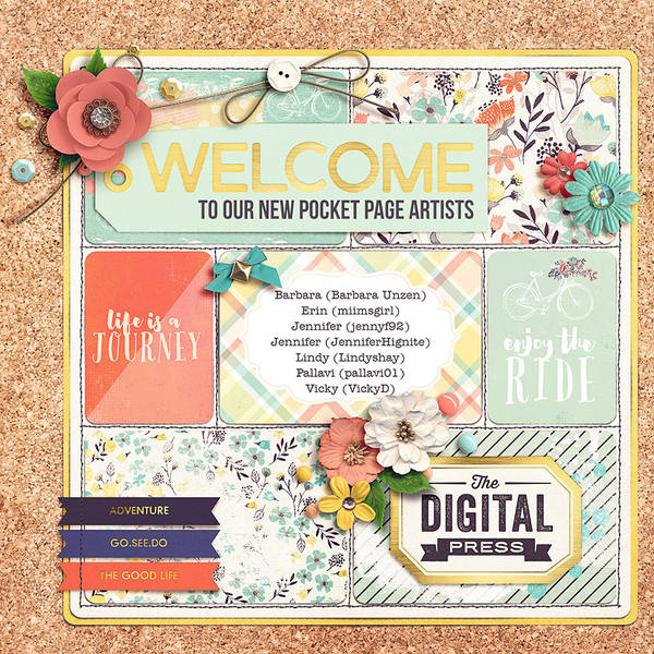 welcome to our pocket page artists