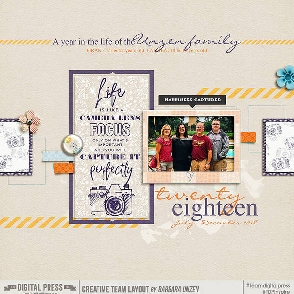 FRONT BLURB BOOK COVER : 2018 Family Album (Book 2 of 2)