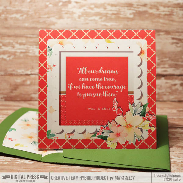 Imagine Card with matching envie