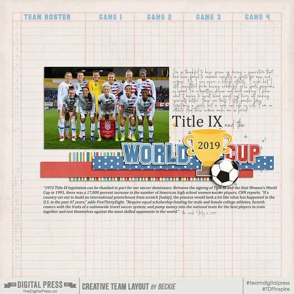 Title IX and World Cup!