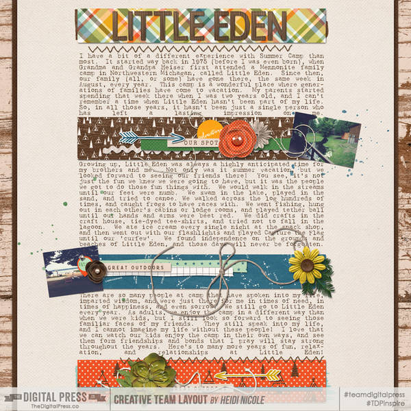 Little Eden | Letters Home