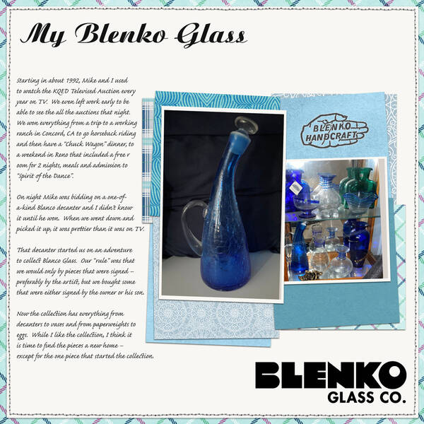 My Blenko Glass