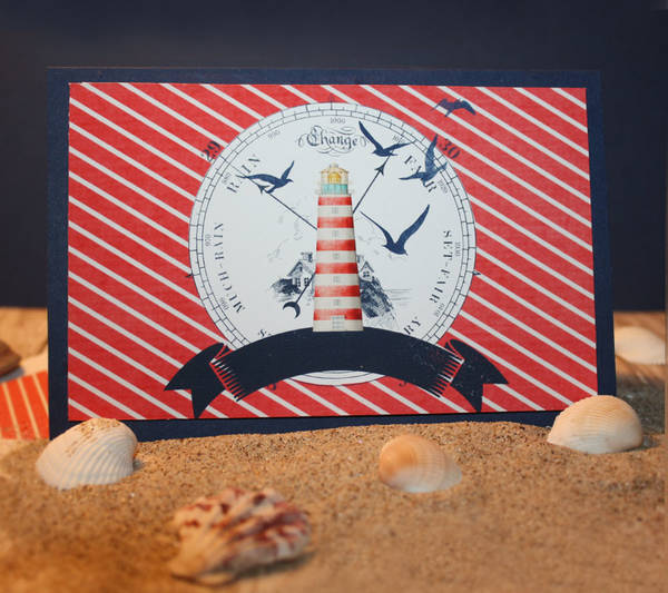 Anchor My Heart card w/matching envelope