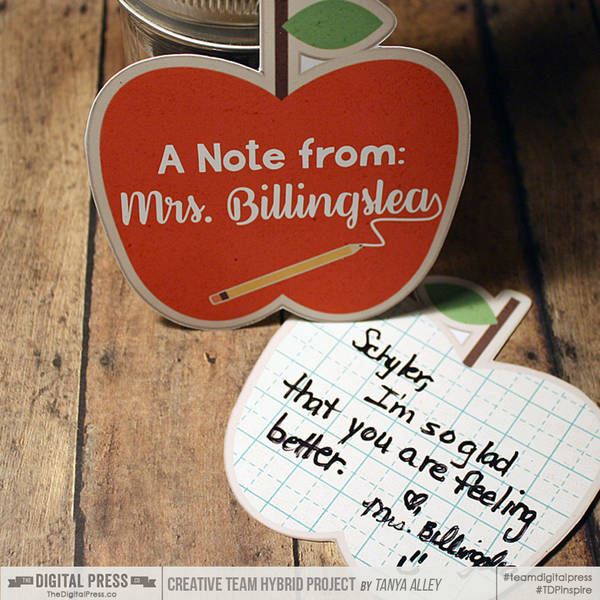 A Note From:  Teacher's note cards